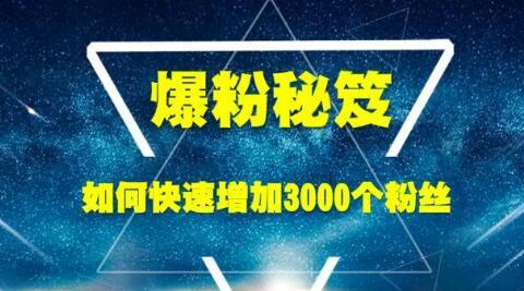 (10期)王通《爆粉秘笈》如何快速增加3000个精准粉丝